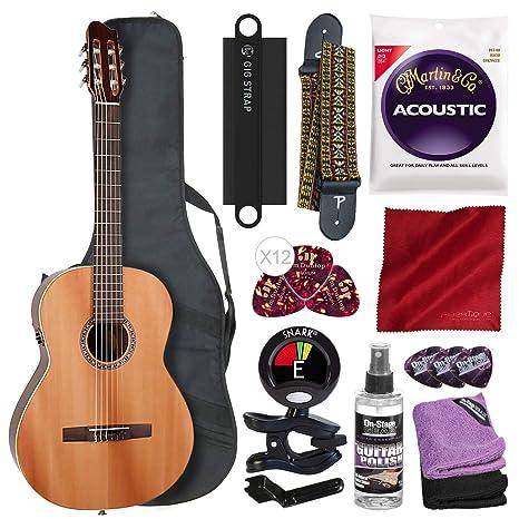La Patrie Concert guitarra acústica clásica con bolsa de ...