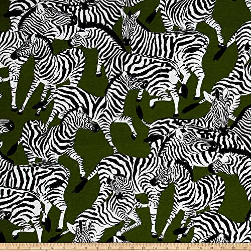 WAVERLY 0537523 Sun N Shade Herd Together Leaf Outdoor Fabric by The Yard