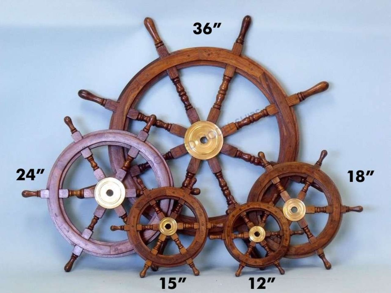 Amazon hampton nautical deluxe class wood and brass decorative amazon hampton nautical deluxe class wood and brass decorative ship wheel 24 nautical home decoration gifts home kitchen mozeypictures Gallery