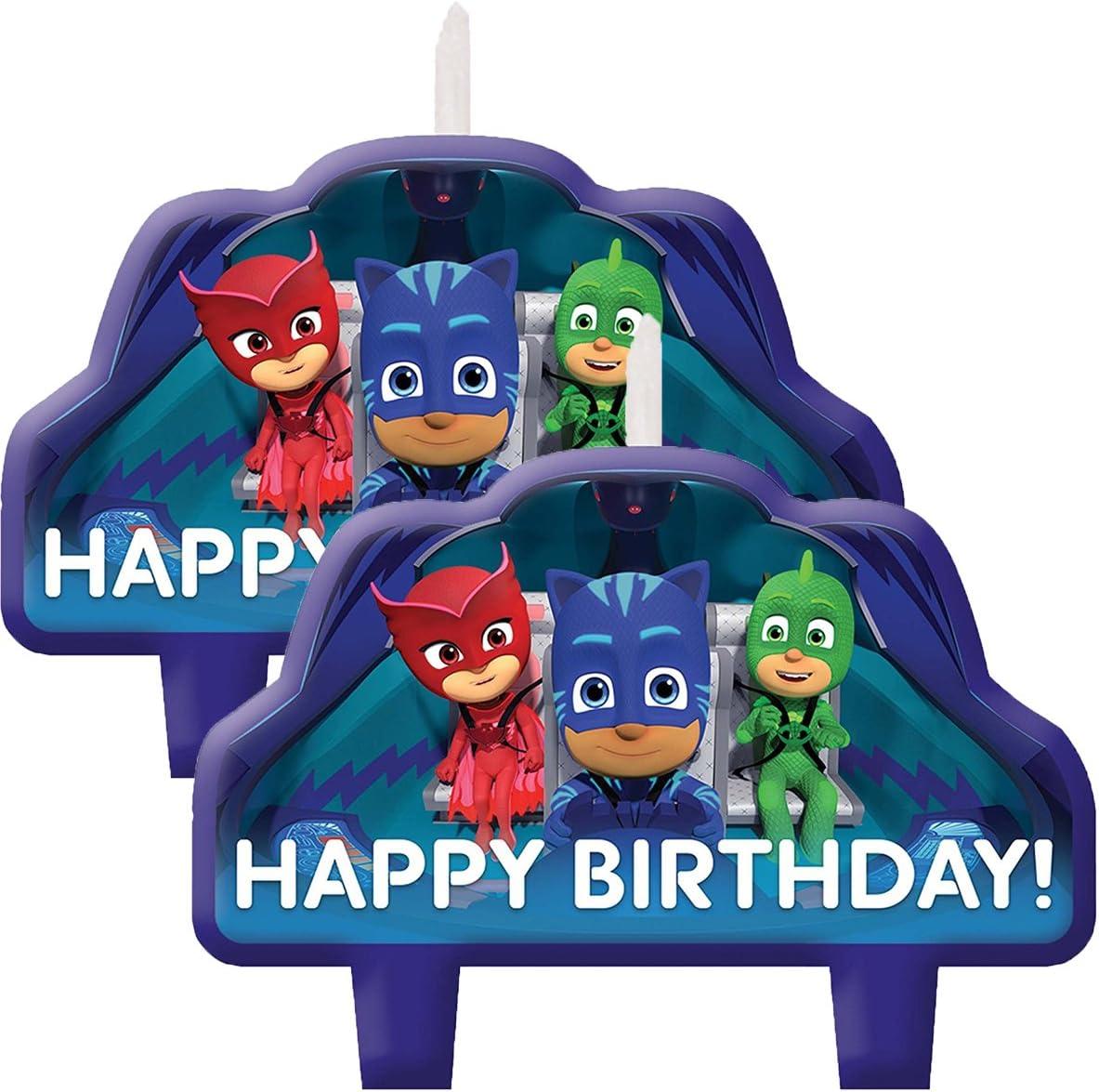Amscan PJ - Velas de cumpleaños para tartas: Amazon.es: Hogar