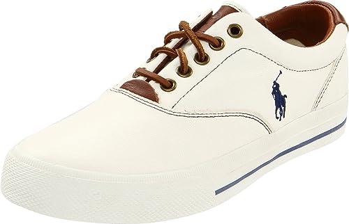 51aa81ff RALPH LAUREN Polo Zapatos de agujeta para Hombre, Color Blanco, Talla 8 D(