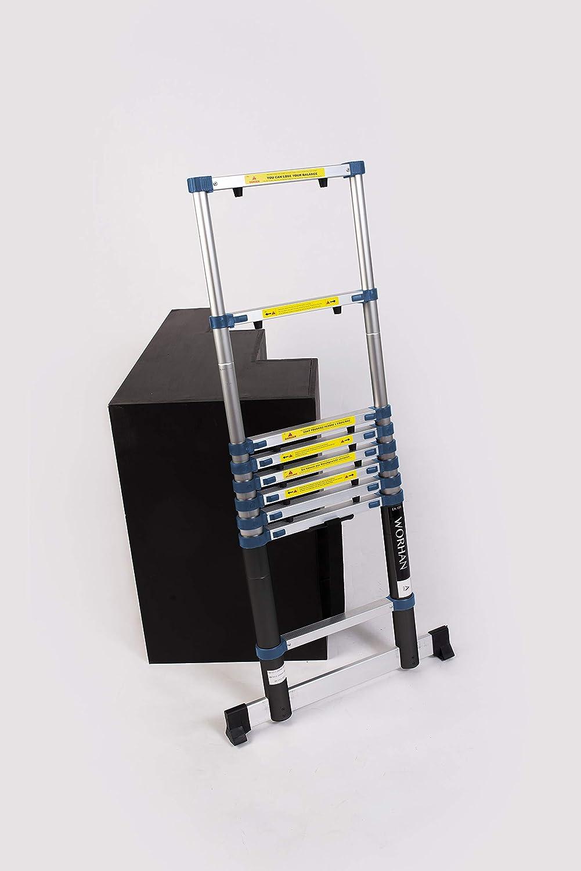 WORHAN® 3.2m Escalera Telescopica PRO Multiuso Aluminio Anodizado Calidad Alta 320cm (.3.2m A-line) 1K3.2A: Amazon.es: Bricolaje y herramientas