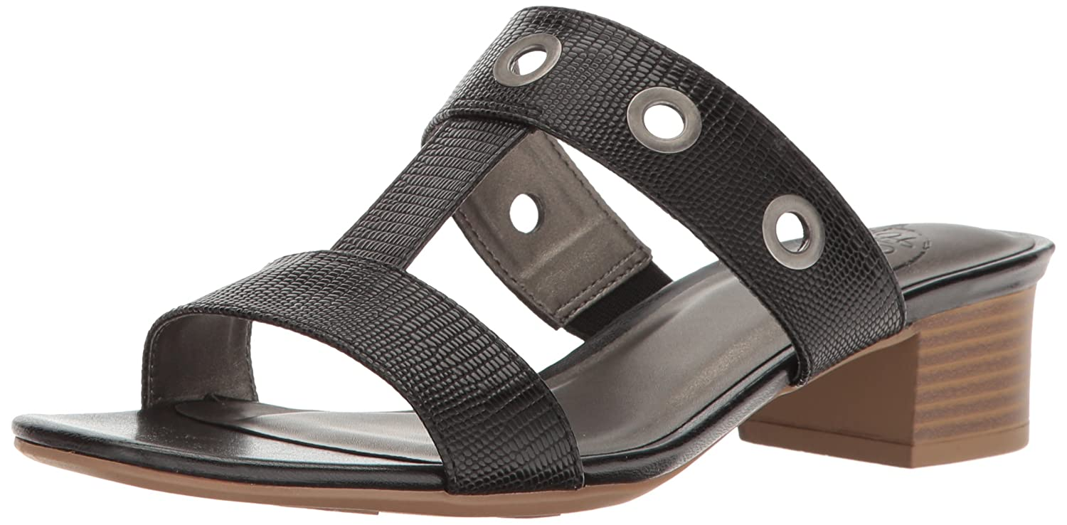 LifeStride Womens TANNER Open Toe Casual Slide Sandals Black 1 Size 70