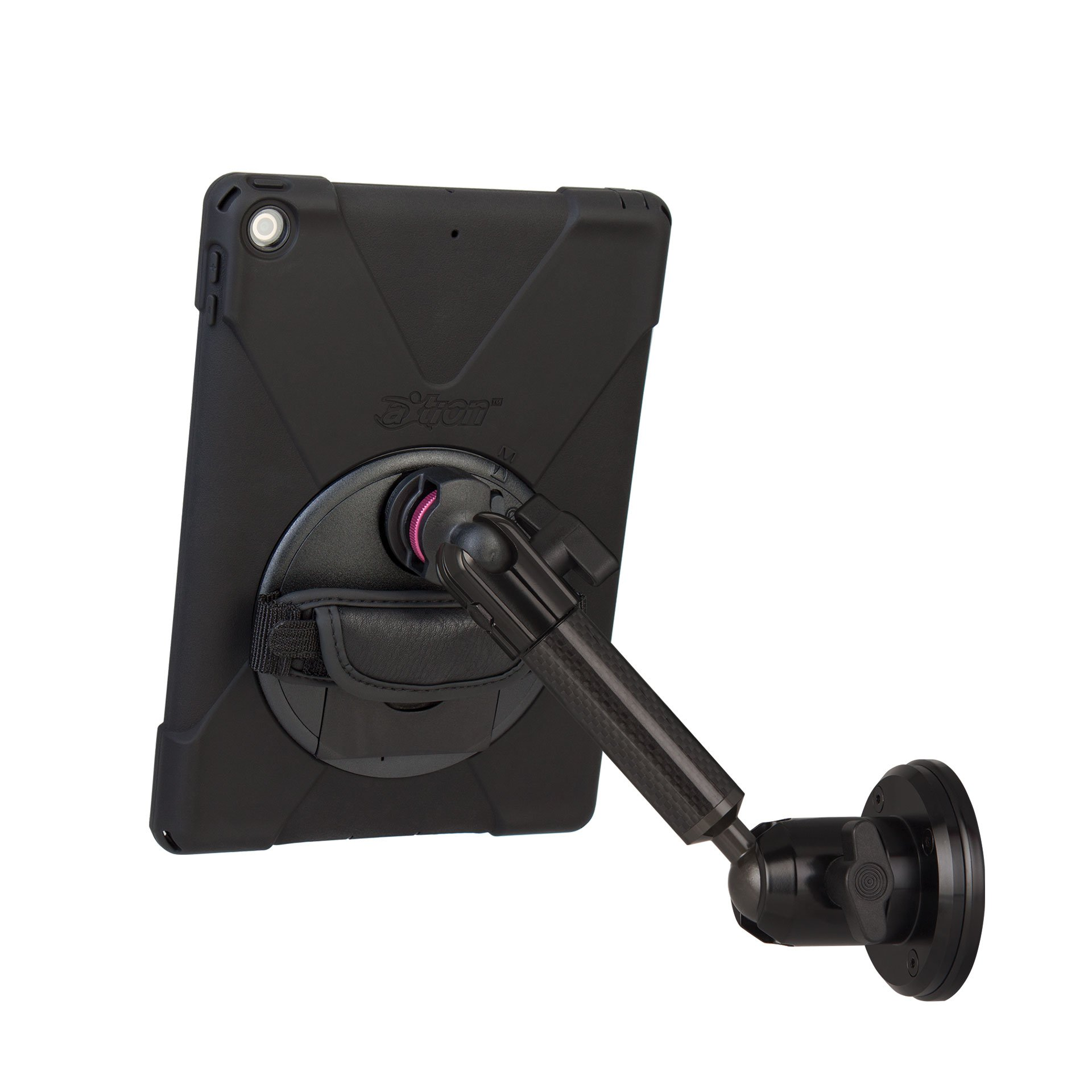 The Joy Factory MagConnect Magnet Mount with aXtion Bold MP Water-Resistant Rugged Case for iPad 9.7 5th/6th Gen, Built-In Screen Protector (MWA617MP)
