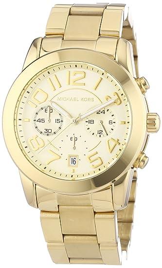 Michael Kors Mercer MK5726 - Reloj cronógrafo de cuarzo para mujer, correa de acero inoxidable