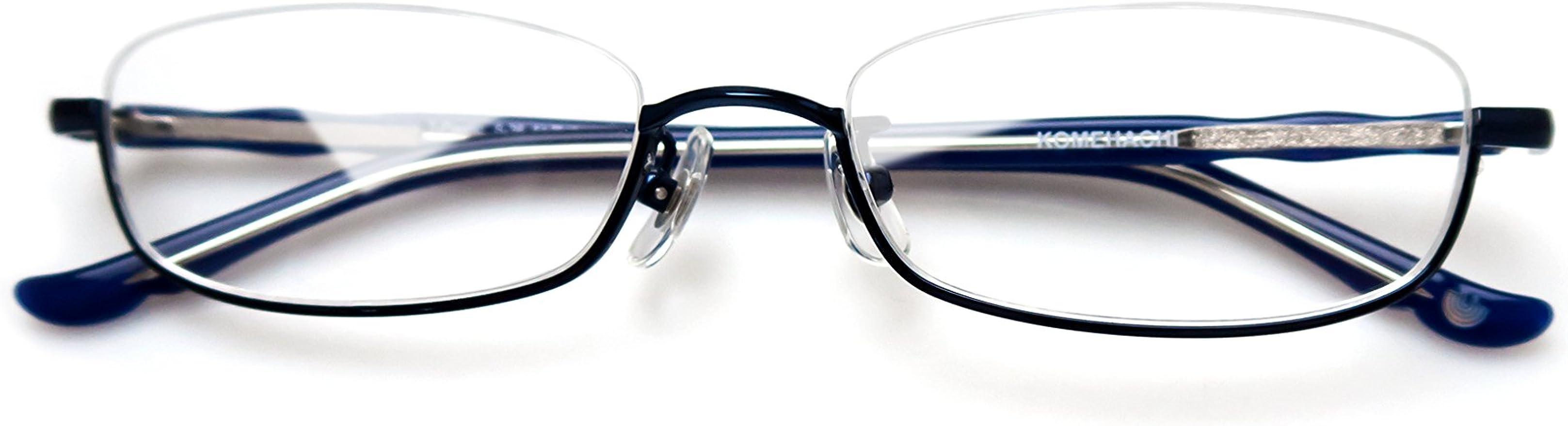 Komehachi Men Rectangle Full Rim Classic Acetate Prescription Ready Clear Lens Eyewear Eyeglasses Frames