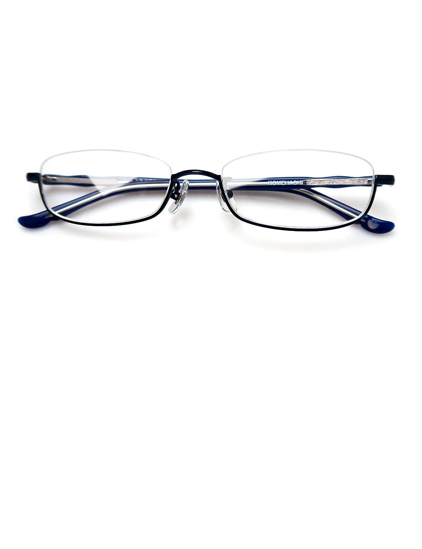 7ea78f02818 Komehachi - Rectangle Round Semi Under Rim Clear Lens Prescription  Eyeglasses (Blue(Rectangle)) at Amazon Women s Clothing store