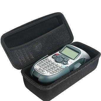 Khanka Duro Viaje Estuche Bolso Funda para DYMO LetraTag LT-100H Tape Impresora de etiquetas LabelMaker. Mesh Pocket para YMO 12mm LetraTAG Plastic ...