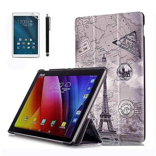 117 opinioni per Custodia ZenPad 10 Z300CL Flip,Smart Cover BookStyle Custodia Cover in Pelle per