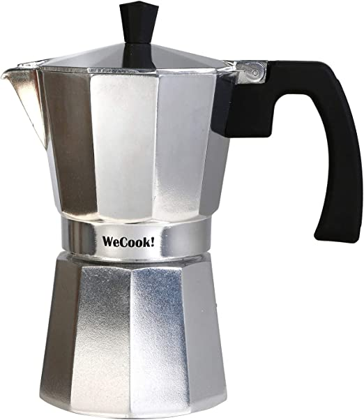 Wecook Paola Cafetera Italiana de aluminio express, 1 taza café ...