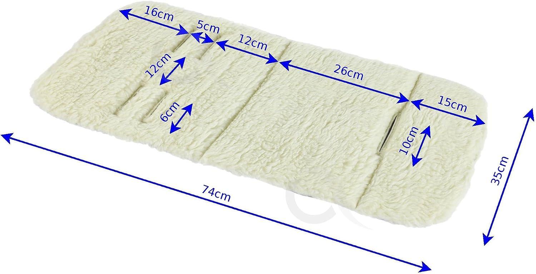 Carrycot Liner 5pt harness REVERSIBLE SOFT WOOL Pram INSERT 225//wool Bassinet