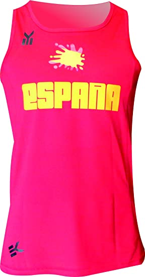 ESPAÑA Camiseta Tecnica EKEKO DE Tirantes para Hombre, Running, Atletismo y Deportes en General, Color Rojo: Amazon.es: Deportes y aire libre