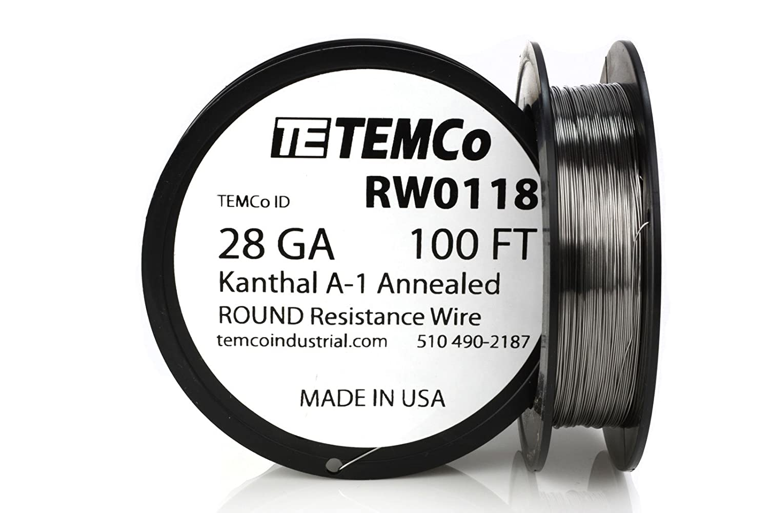 TEMCo Kanthal Wire 28 Gauge - 100 FT 0.61 oz Series A-1 Resistance ...