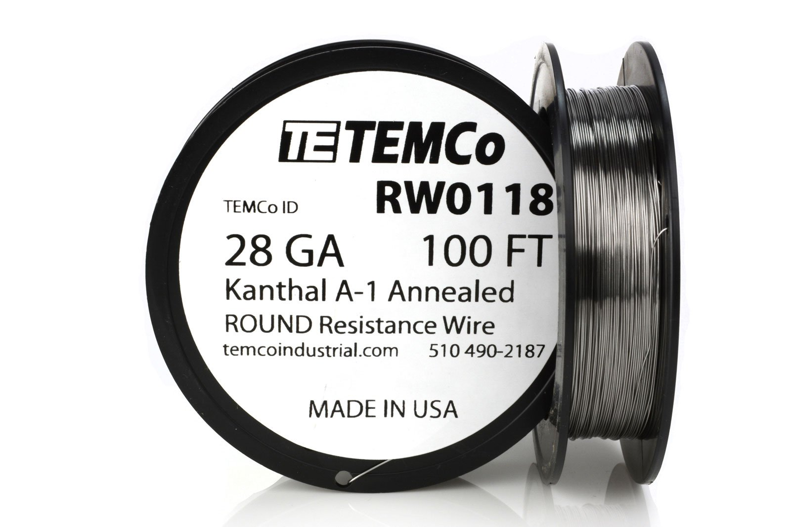 TEMCo Kanthal Wire 28 Gauge - 100 FT 0.61 oz Series A-1 Resistance AWG