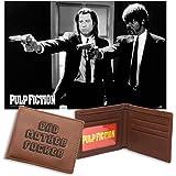 Set Pulp Fiction BMF - Póster y Cartera marrón de cuero