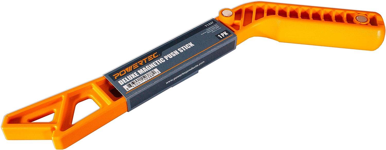 POWERTEC Deluxe 71337 B/âton /à poussoir magn/étique avec aimants int/égr/és dans une poign/ée ergonomique pour un rangement efficace et de lespace