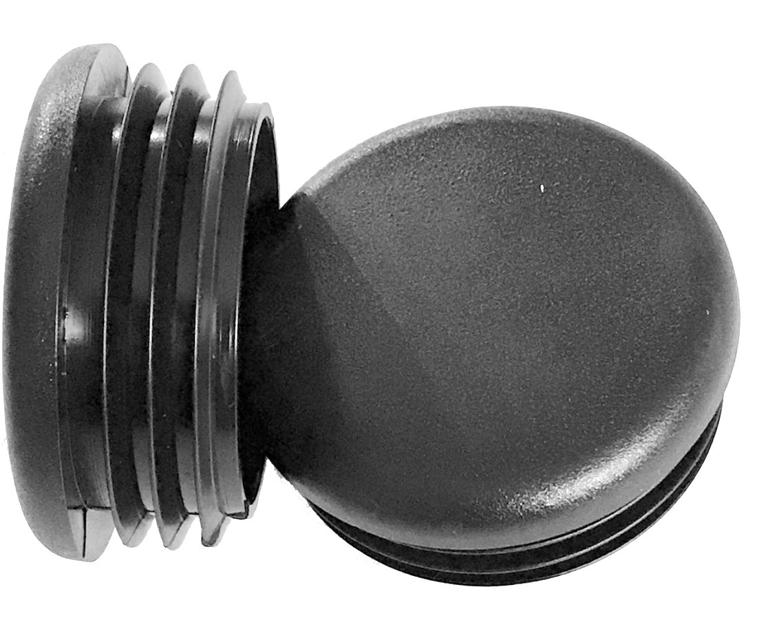 Pack of 25: 1 1/2 Round Plastic Tubing Plugs (14-20 Ga)   1.5 Inch End Cap - Steel Furniture Pipe Tube - Chair Leg - Table Glide Insert   End Caps for Fitness Eqpt. by SBD