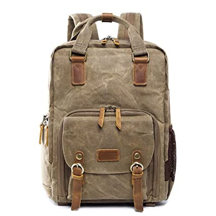 DCRYWRX Camera Backpack Shockproof Waterproof Canvas Professional Camera  Bag Rain Cover And Storage Digital SLR Camera 991e43e53f323