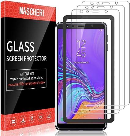 MASCHERI Protector de Pantalla para Samsung Galaxy A7 2018, [3 ...