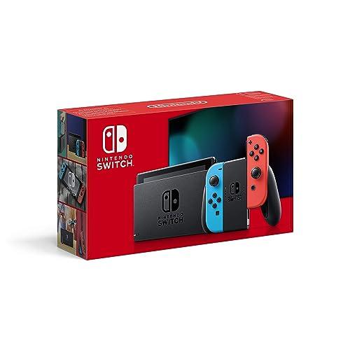 Nintendo Switch Consola color Azul Neón Rojo Neón Modelo 2019