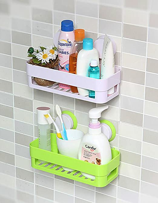 Leisial Rechteckig Sucker Badezimmer Racks Badezimmerablagen Und