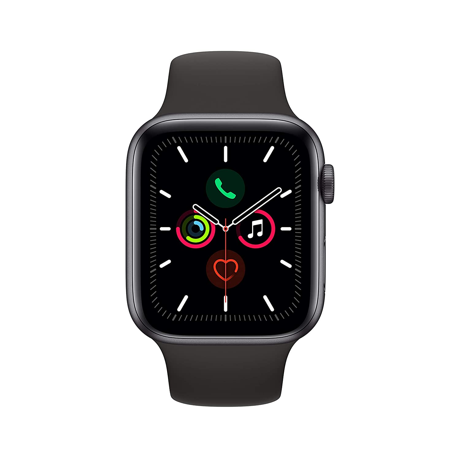 Apple Watch Series 5 (GPS + Cellular, 44mm) – Space Gray Aluminium Case with Black Sport Band