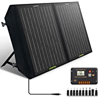 ECO-WORTHY 60W Foldable Solar Panel Charger for Portable Power Station & RV Battery, Solar Charger for Jackery/Roackpals…