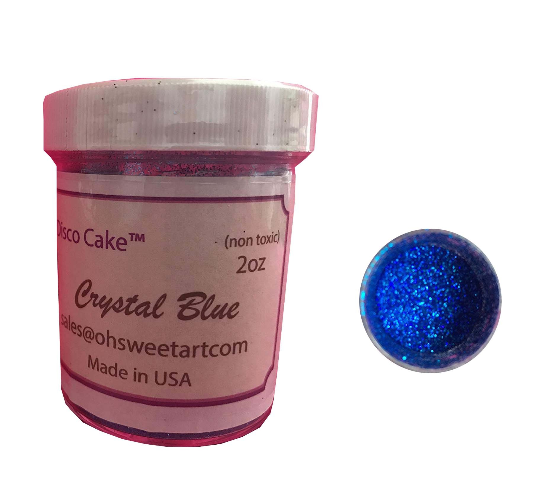 DISCO CRYSTAL BLUE 2 OUNCES, 2 OZ Disco Cake, cakes, cupcakes, fondant, decorating, cake pops By Oh! Sweet Art … by Oh! Sweet Art (Image #2)