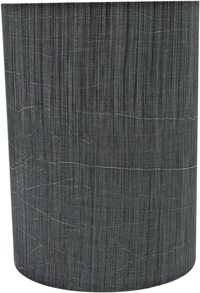 Aspen Creative 31259 8 Wide 8 X 8 X 11 Transitional Drum Cylinder Shaped Spider Construction Lamp Shade Grey Black