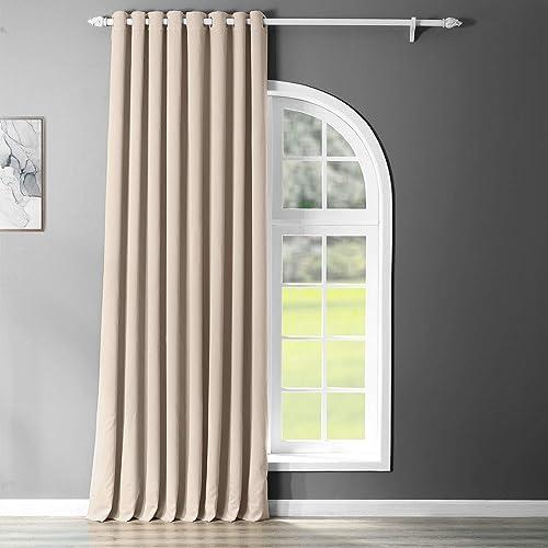 HPD Half Price Drapes BOCH-120601-108-GRDW Eggnog Grommet Extra Wide Blackout Room Darkening Curtain 1 Panel