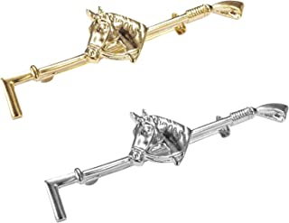 Imperial Riding Krawattennadel / Plastronnadel PFERDEKOPF (gold)