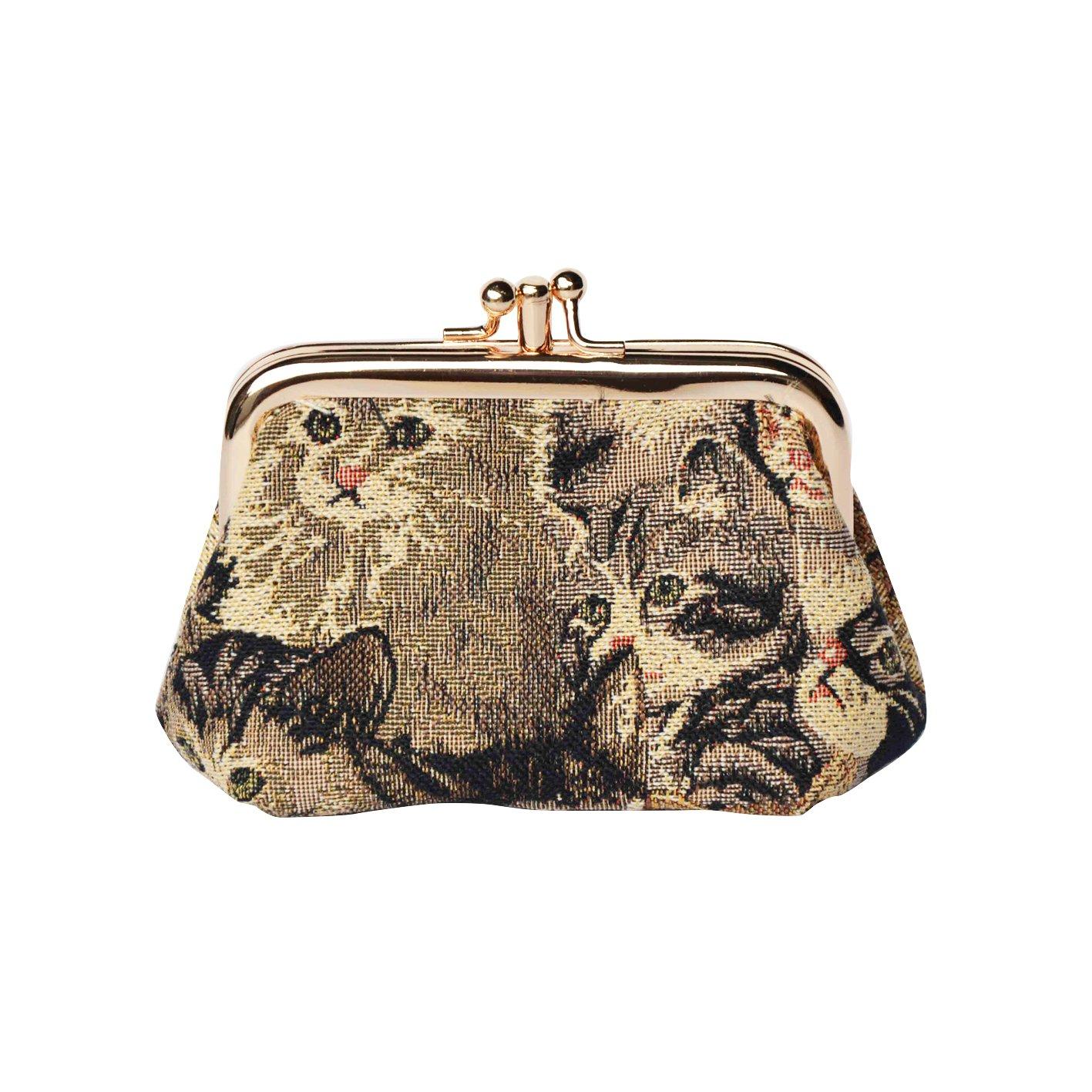 827f818f1ea02 Damen Tapisserie Börse Portemonnaie Münzbörsen Mit Metall Verschlussart  William Morris der Cray  Amazon.de  Koffer