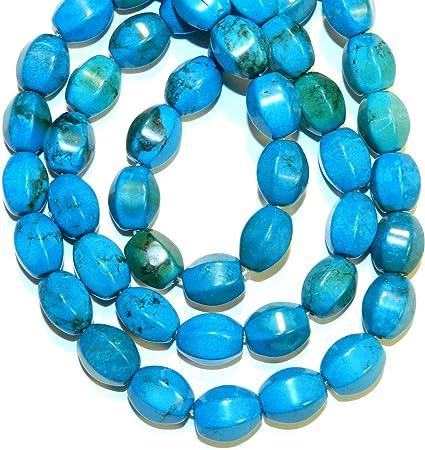 Blue Turquoise Magnesite Tube Beads