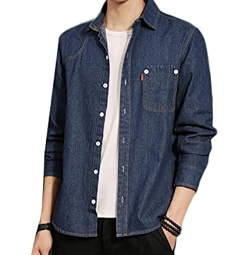 Me, please Vintage mens two pocket denim shirt think