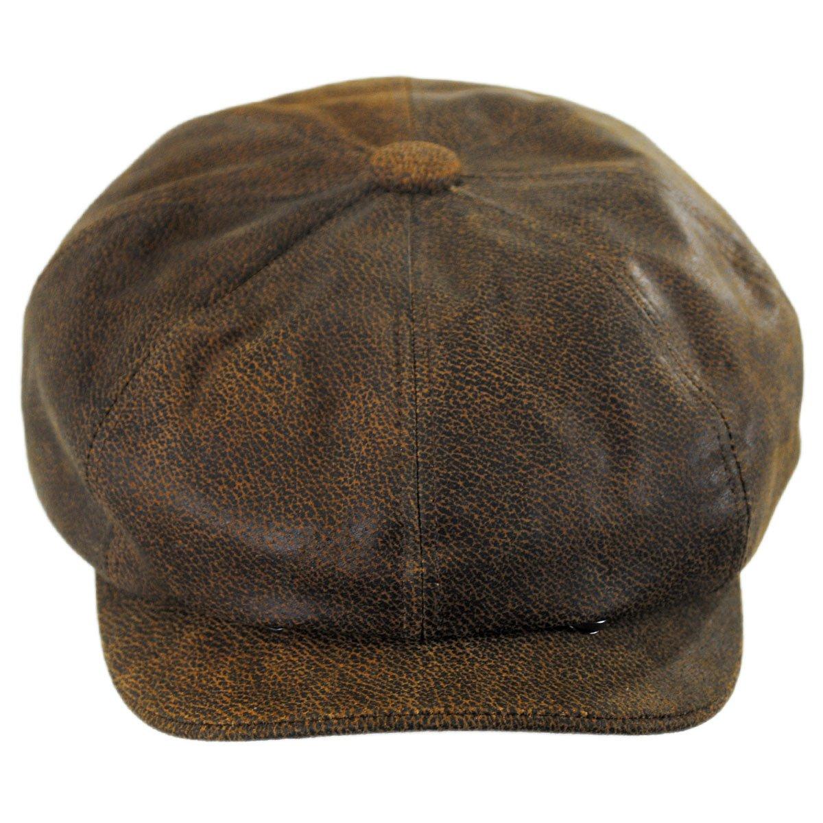 e1e15bd13 Jaxon Hats Leather Newsboy Cap at Amazon Men's Clothing store: