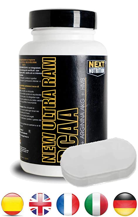 BCAA Aminoácidos Ramificados + Caja de Pastillas New Ultra RAM 100 ...