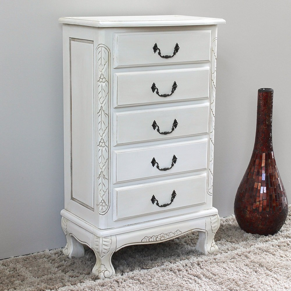 Storage jewelry armoire cabinet classic antique look premium indoor quality hardwood construction great accent piece beautiful painted antique white
