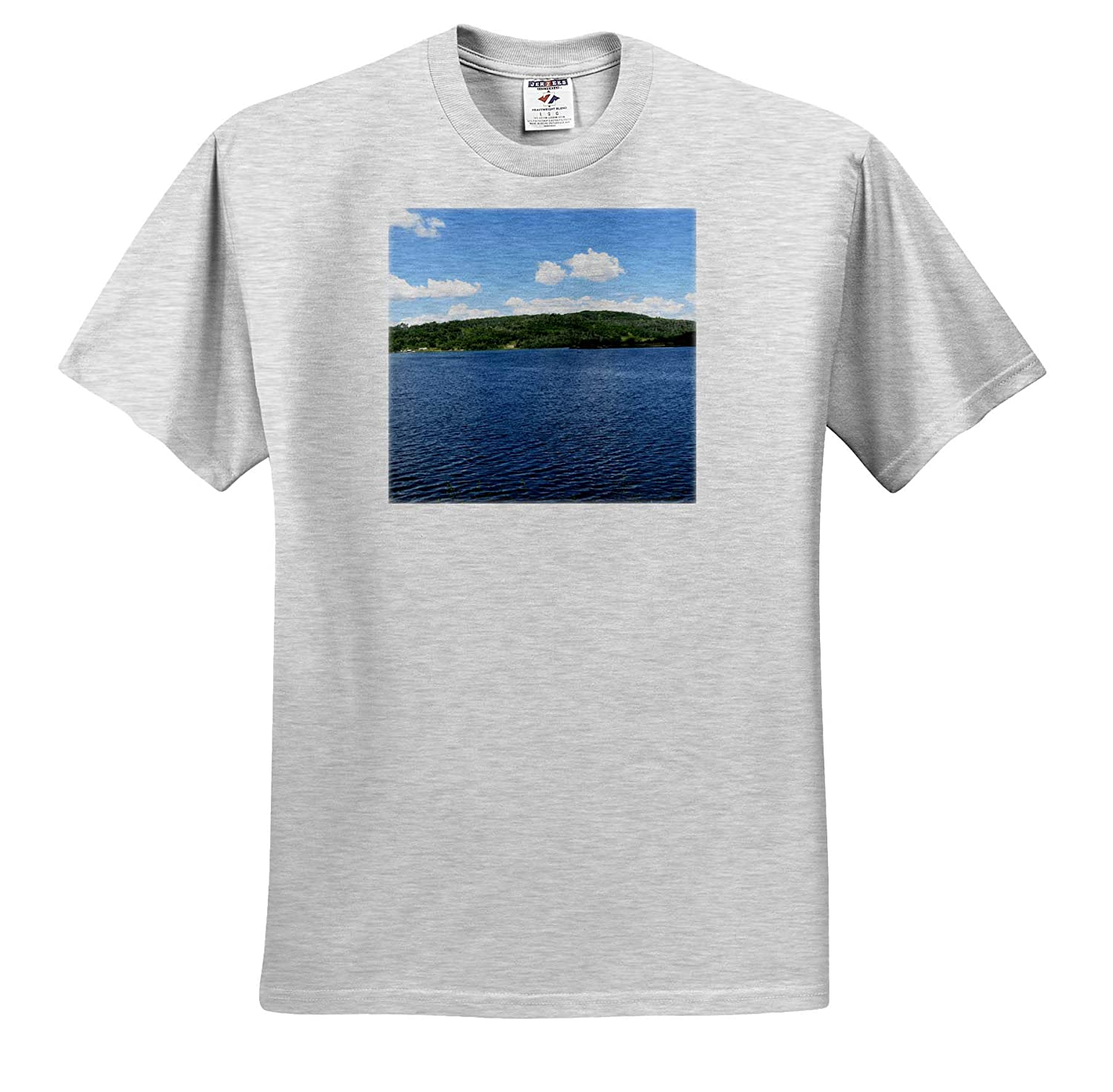 3dRose Jos Fauxtographee The Reservior at Kolob in Utah with deep Blue Water Lake T-Shirts