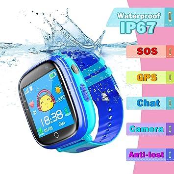 Niños Inteligente Relojes, LBS Kids SmartWatch con Camara, Flash luz, SOS, Nocturna Pantalla táctil, Reloj Inteligente Anti - Lost Smart Tracker ...