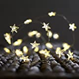 BOHON Decorative Lights, Star String Lights 40 LEDs 10 ft Fairy Lights Battery Operated for Kids Bedroom Wedding Indoor Party Décor with Remote & Timer (Warm White)