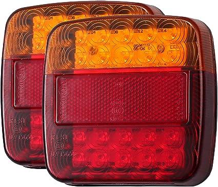 LED faro trasero derecha luz trasera camiones remolque 43 LEDs marca de verificación e alta calidad