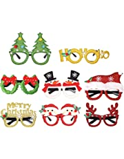 Fascigirl 8 Pairs Christmas Party Glasses Cute Cartoon Assorted Costume Glasses Kids Favor