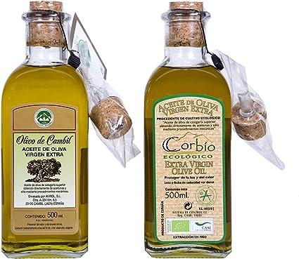 Corbío - Aceite de Oliva Virgen Extra Ecológico Picual, Pack de 2 ...