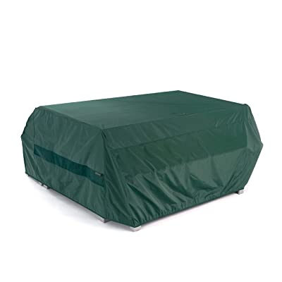 Covermates – Picnic Table Cover – 76W x 62D x 32H – Classic – 12-Gauge Vinyl - Polyester Lining - Elastic Hem - 2 YR Warranty – Weather Resistant - Green : Patio Table Covers : Garden & Outdoor