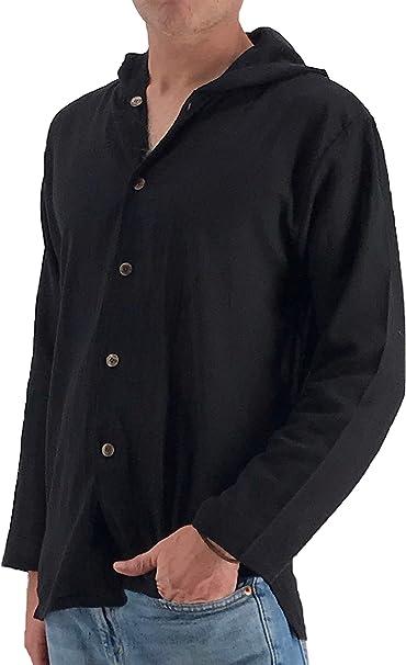 Amazon.com: Camisa de yoga con capucha para hombre, 100 ...