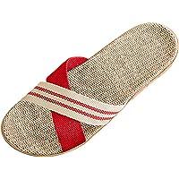Bverionant Zapatillas de Estar por Casa de Lino, Slippers para Verano, Zapatillas Interior Sandalias Unisex, Pantuflas…