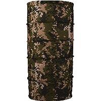 Autofy Unisex Camouflage Printed Lycra Headwrap Bandana for All Bikes (Green, Freesize)