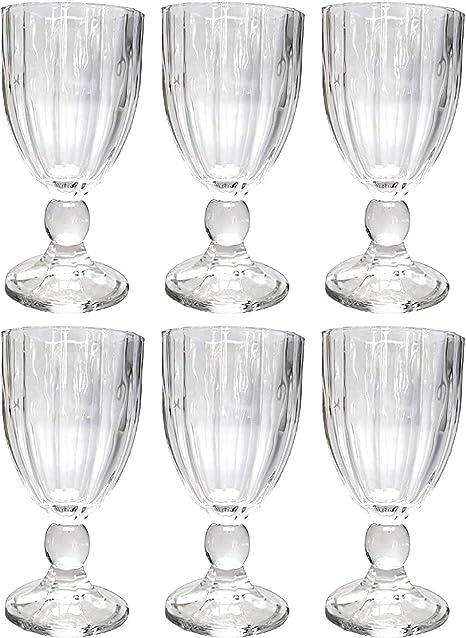 Lot de 6 verres à vin vintage Transparent 16 à 2: Amazon