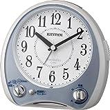 リズム時計 メロディ 目覚まし 時計 アナログ アリアカンタービレ 38曲高音質メロディ搭載 青 RHYTHM 4RM763SR04