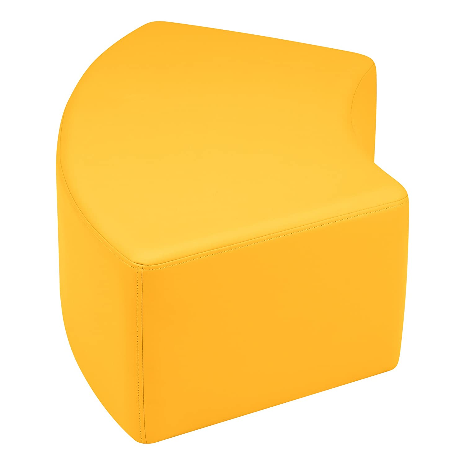 Sprogs Vinyl Soft Seating Curved Stool//Bench SPG-1019SD-A 12 H Sand